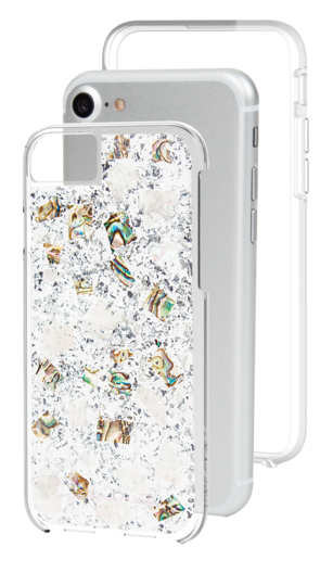 Case-Mate Karat Case iPhone 7 Mother of Pearl Open