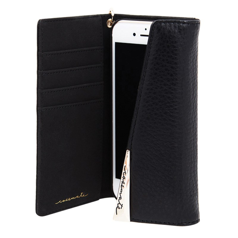 Case-Mate Wristlet Folio Case For iPhone 7 - Black Open