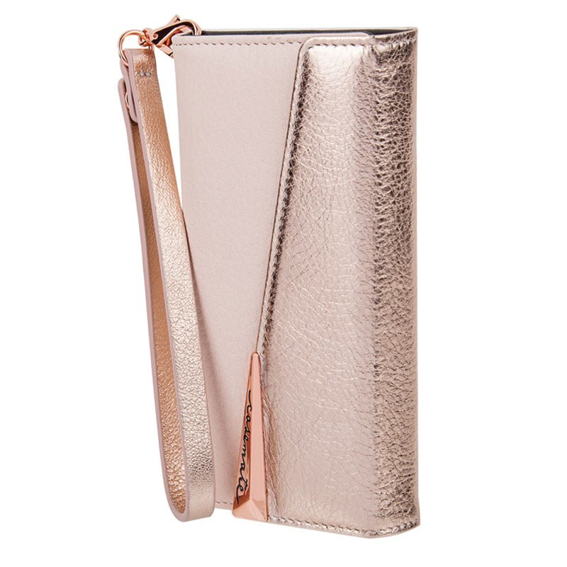 Case-Mate Wristlet Folio Case For iPhone 7 Rose Gold