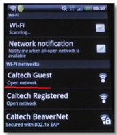 Android WiFi Available Screen