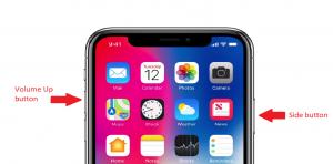 Iphone X Take a screenshot