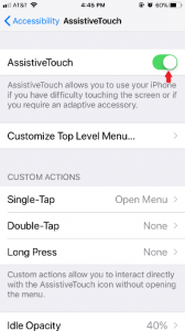 AssistiveTouch Turn On