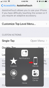 Assistive Touch shortcut Function