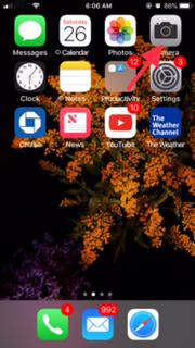 Click on the Camera App