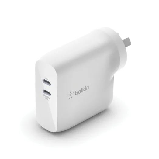68W Belkin BOOSTCHARGE Dual USB-C GaN Wall Charger