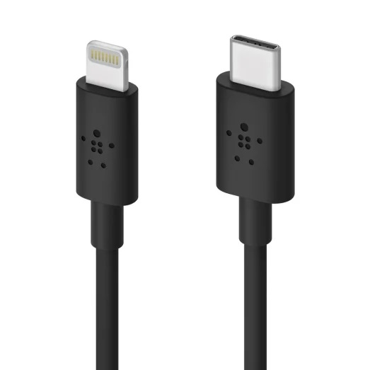 Belkin BOOSTCHARGE USB-C Cable with Lightning Connector Black