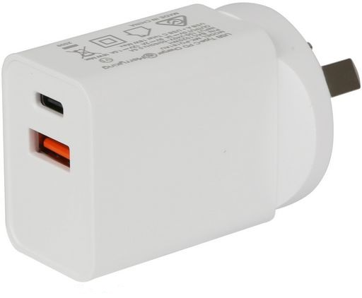 18W USB Wall Charger With QC3.0 And USB-PD White