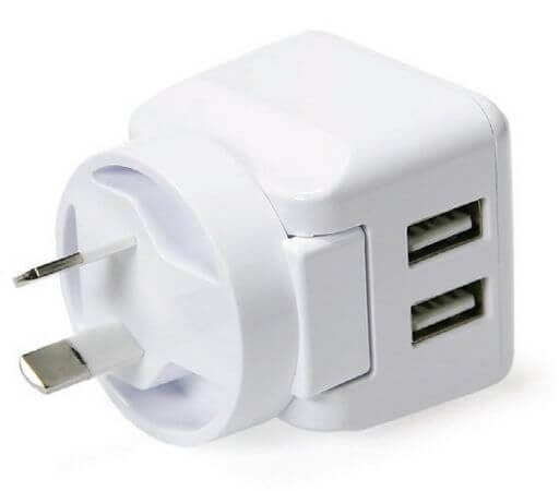 2 x USB Port USB Mains Charger 3.4 Amp White