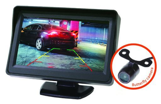 4.3 Inch Reversing Monitor And Butterfly Mount Camera Kit Wired