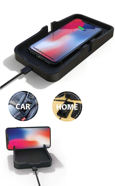 Qi 10W Wireless Charging Pad With Anti Slide Cradle