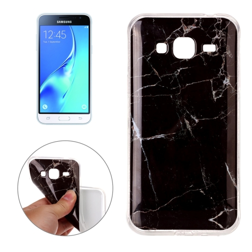 Samsung Galaxy J3 2016 Marble Pattern TPU Case Black