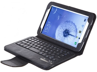 Samsung Galaxy Note 8 Black Leather Case with Keyboard