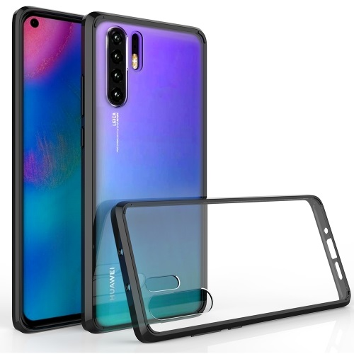 TPU And Acrylic Protective Case for Huawei P30 Pro Clear And Black