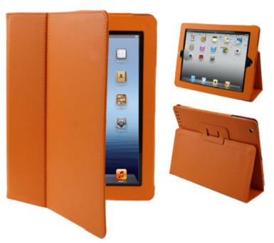 iPad with Retina Display 4th Gen Leather Case Orange