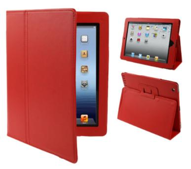 iPad with Retina Display 4th Gen Leather Case Red