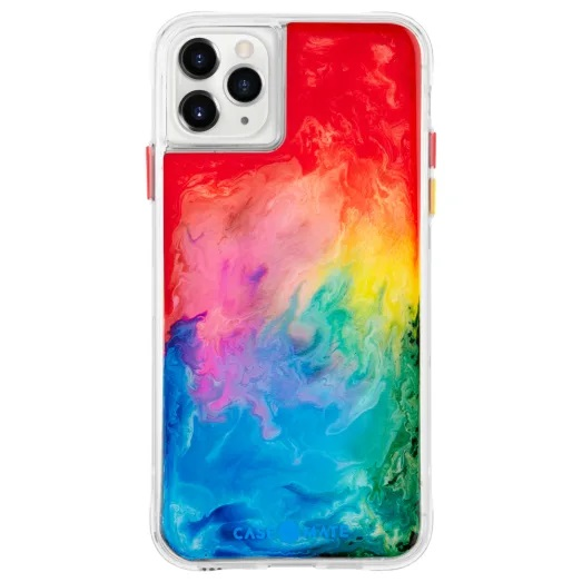 Case-Mate Tough Watercolour Case For iPhone 11 Pro Max Rainbow Splash