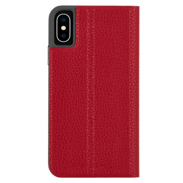 Case-Mate Barely There Folio Minimalist Case suits iPhone Xs Max Cardinal