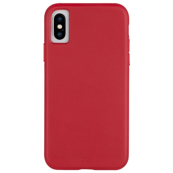 Case-Mate Barely There Leather Minimalist Case suits iPhone X And Xs Cardinal