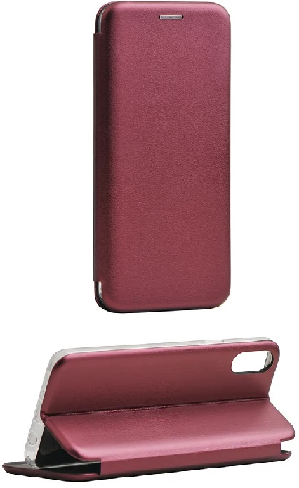 Cleanskin Elegant Mag Latch Flip Wallet Mulberry With Single Card Slot For iPhone Xs And iPhone X