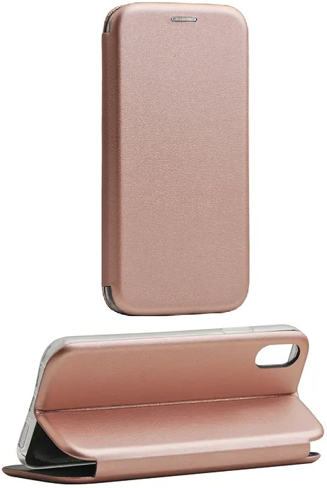 Cleanskin Elegant Mag Latch Flip Wallet Rose Gold With Single Card Slot For iPhone Xs And iPhone X
