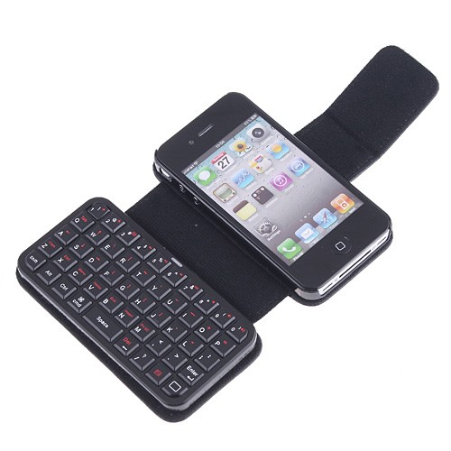 Apple iPhone 4 Leather Case With Keyboard