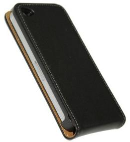 Apple iPhone 4S Leather Wallet Flip Case Black