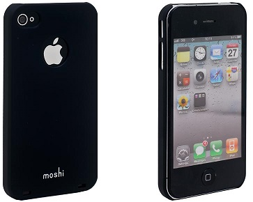 Moshi Plastic Case and Screen Protector for iPhone 4 Black