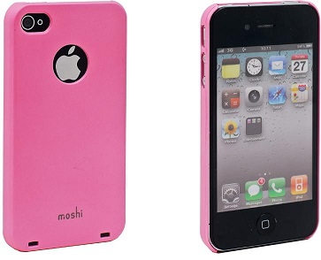Moshi Plastic Case and Screen Protector for iPhone 4 Pink