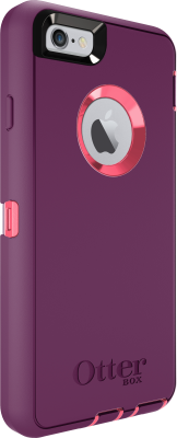 iPhone 6 And iPhone 6S OtterBox Defender Case Blaze Pink Damson Red