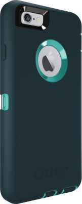 iPhone 6 And iPhone 6S OtterBox Defender Case Light Teal Dark Jade