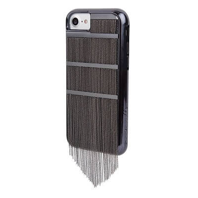 Case-Mate Fringed Metal Case suits iPhone 6/6S/7/8 - Black