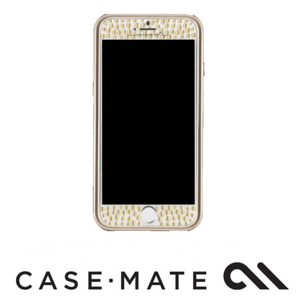 Case-Mate Guilded Glass Screen Guard suits iPhone 7 Plus Champagne