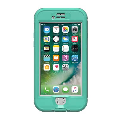 iPhone 7 Lifeproof Nuud Case with Alpha Glass Teal/Clear