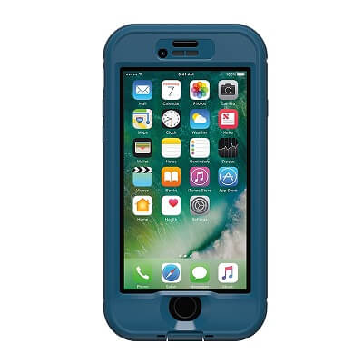 iPhone 7 Lifeproof Nuud Case with Alpha Glass Blue/Clear