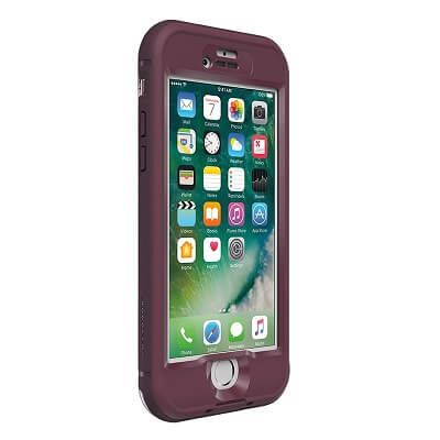 LifeProof Nuud Case For iPhone 7 Plus Wild Berry/Deep Plum Purple/Clear