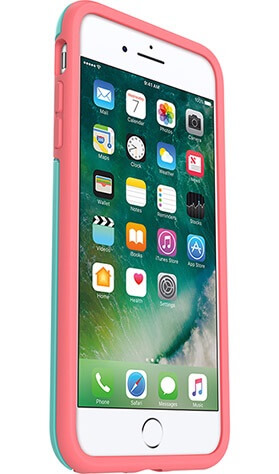 OtterBox Symmetry Case suits iPhone 7 Plus Mint/Candy Pink