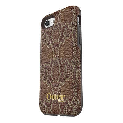 OtterBox Symmetry Leather Case suits iPhone 7/8 Dark Brown/Dark Snake Skin