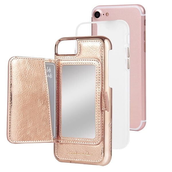 Case-Mate Compact Mirror Case suits iPhone 6/6S/7/8 Rose Gold