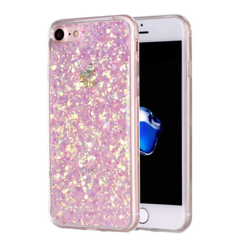 iPhone 8 Glitter TPU Case Pink