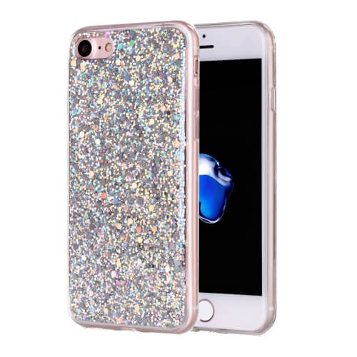 iPhone 8 Glitter TPU Case Silver