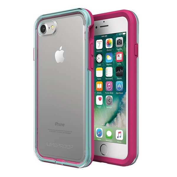 LifeProof Slam Case suits iPhone 8 Clear/Blue/Magenta