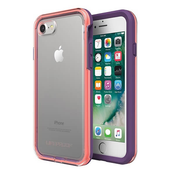 LifeProof Slam Case suits iPhone 8 Clear/Coral/Lilac