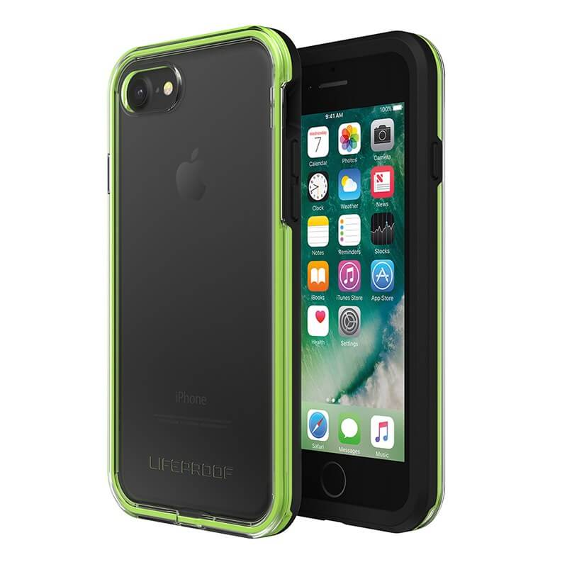 LifeProof Slam Case suits iPhone 8 Clear/Lime/Black