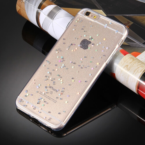 iPhone 8 Star Glitter TPU Case Clear