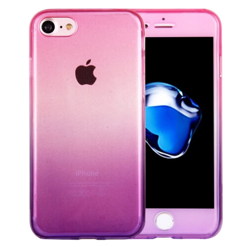iPhone 8 Gradient TPU Case Magenta And Purple