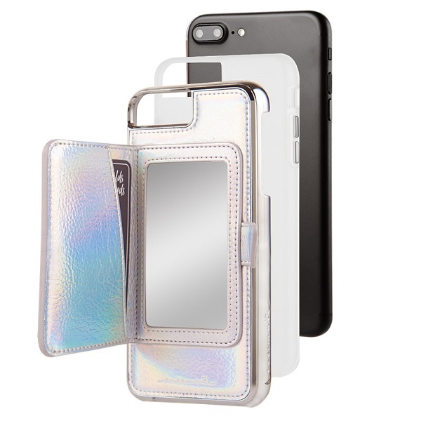 Case-Mate Compact Mirror Case suits iPhone 8 Plus And 7 Plus Iridescent