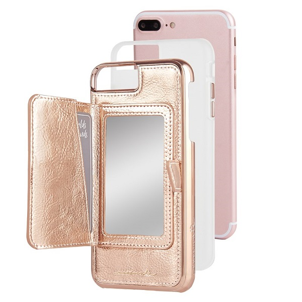 Case-Mate Compact Mirror Case suits iPhone 8 Plus And 7 Plus Rose Gold
