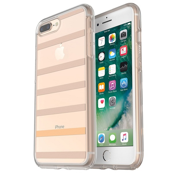 OtterBox Symmetry Clear Case suits iPhone 8 Plus And 7 Plus Inside The Lines
