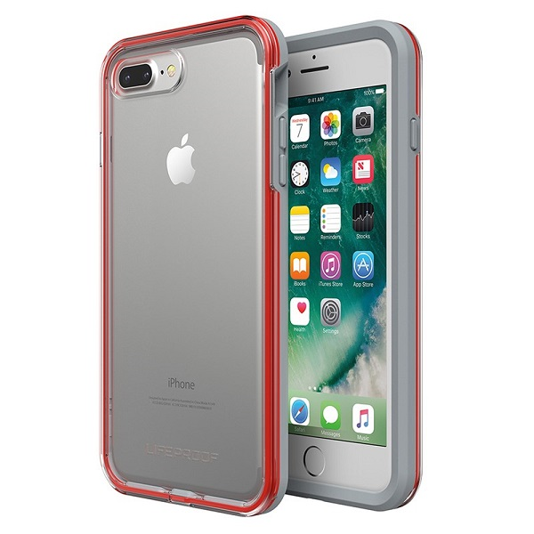 LifeProof Slam Case suits iPhone 8 Plus Clear Cherry Sleet
