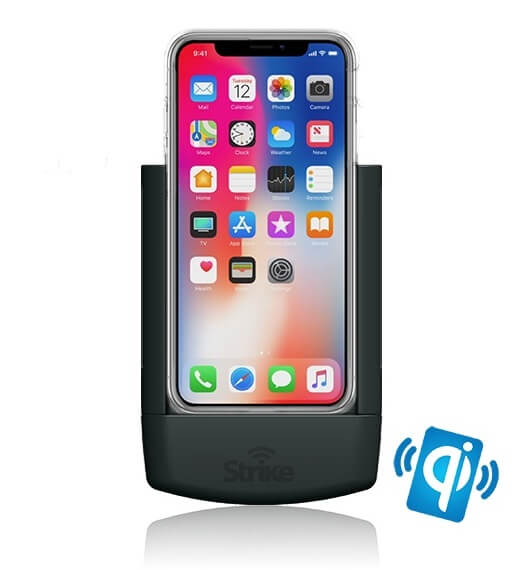Strike Alpha Apple iPhone X Car Cradle with Strike Case DIY Wireless Charging